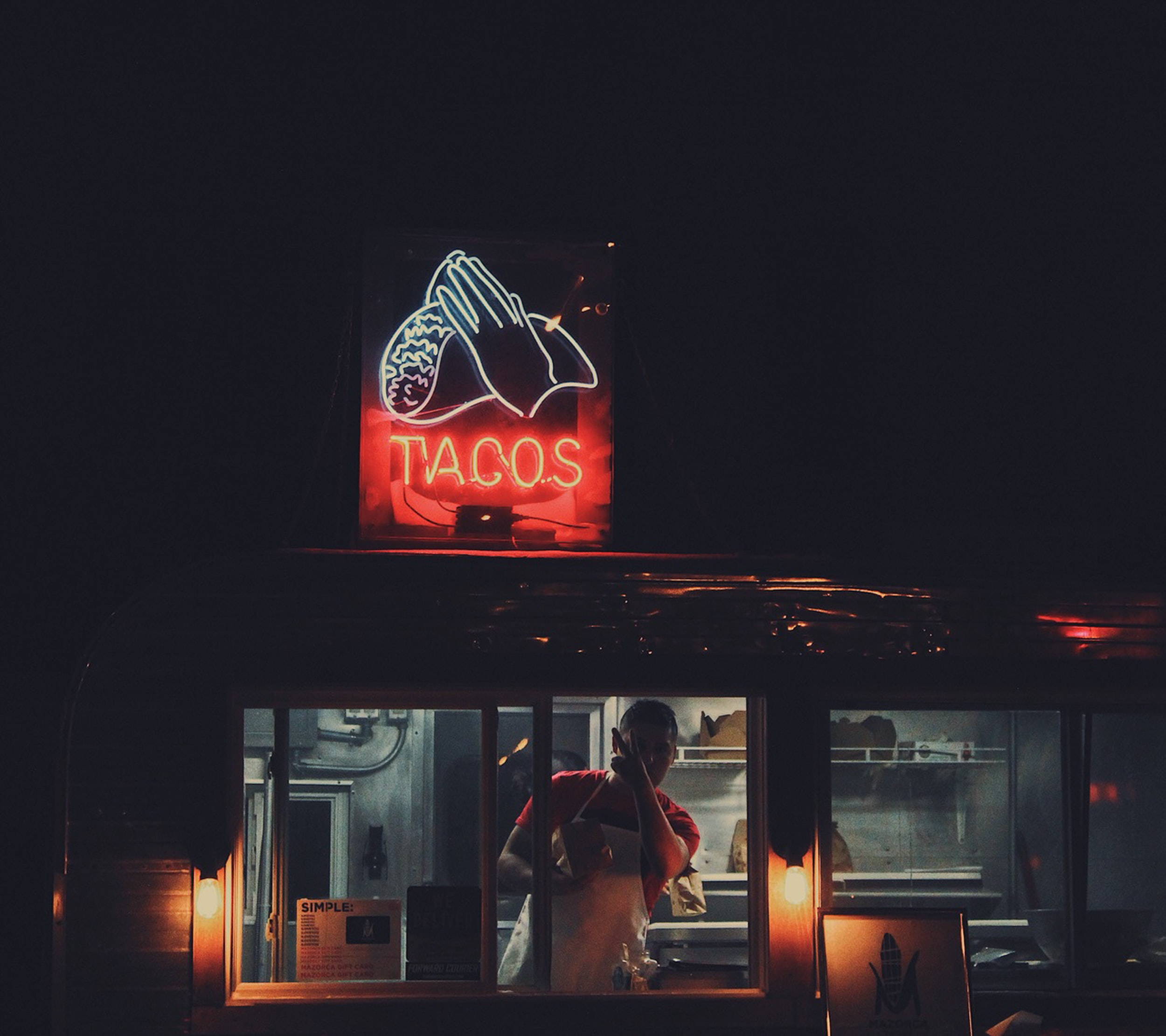 Tacos food stall