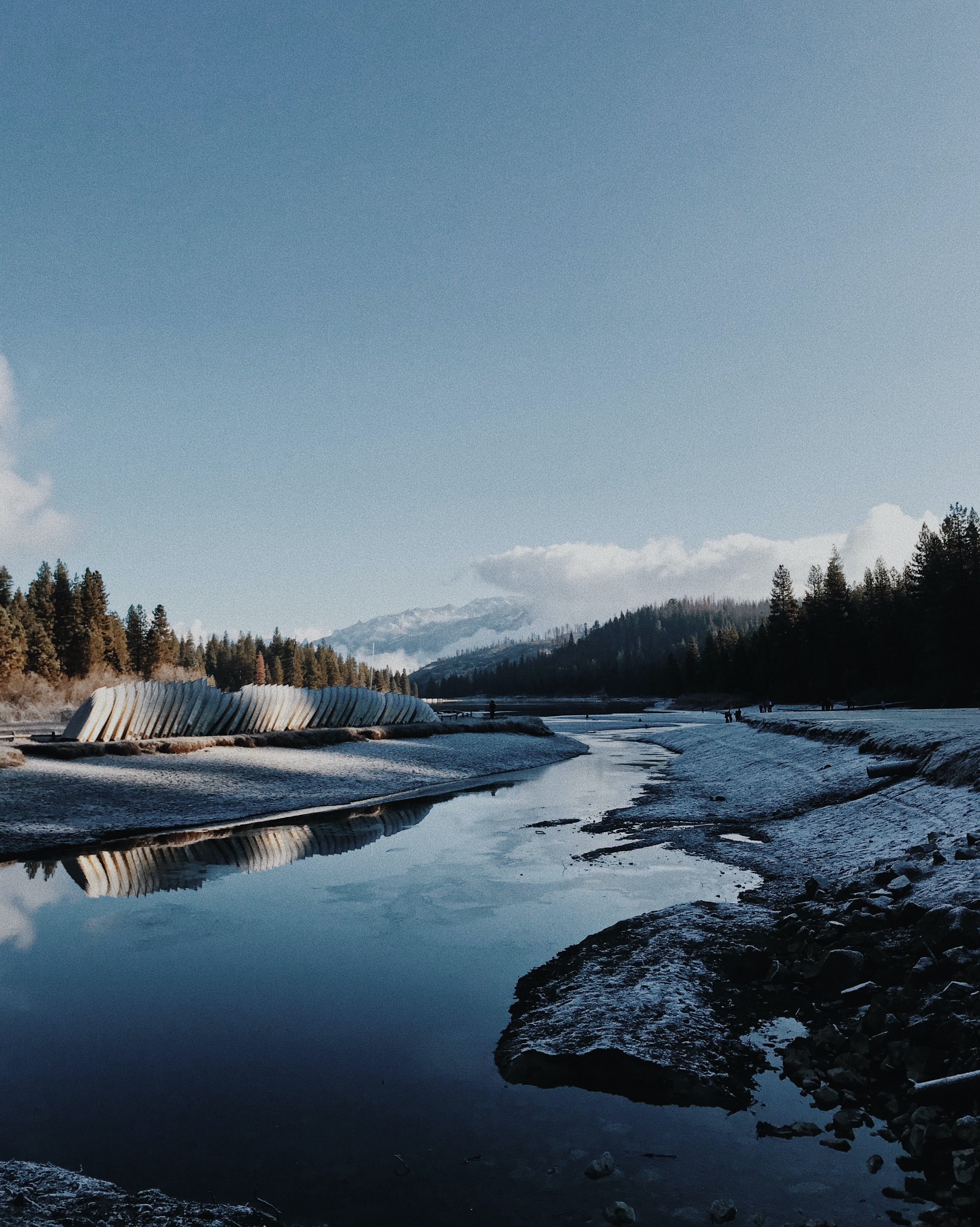 river during winter