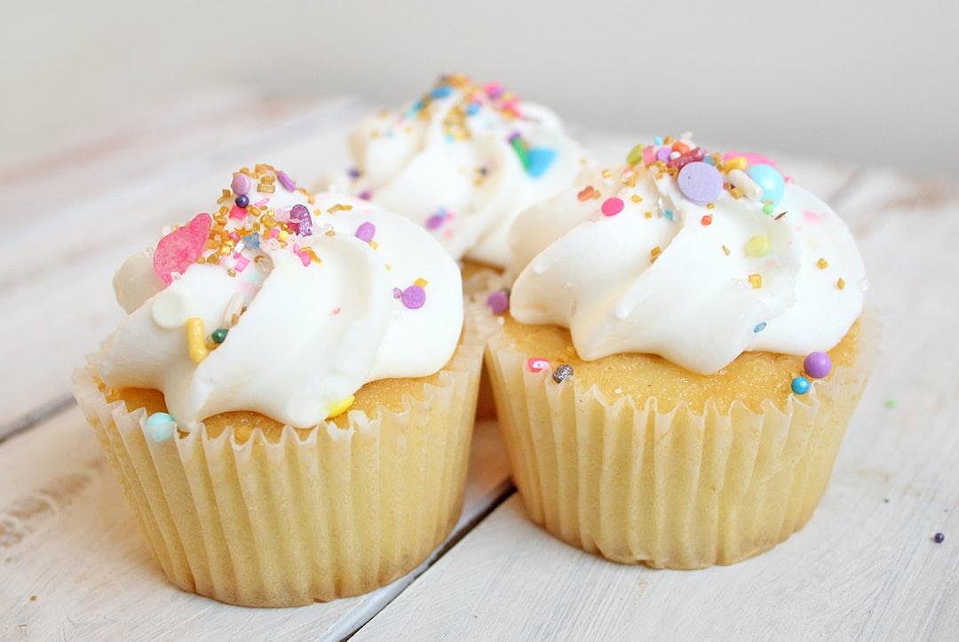 Cupcakes with pastel sprinkles
