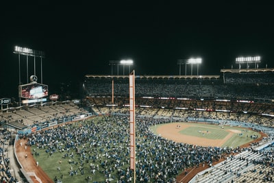 people inside ballpark dodgers teams background