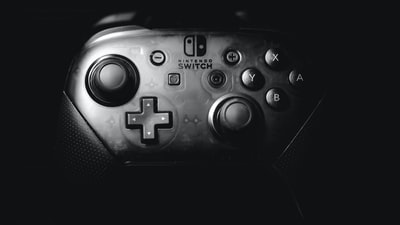 black Nintendo Switch controller