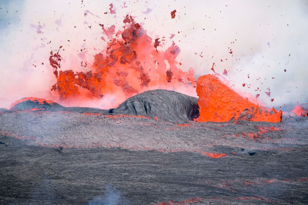 Lava fountaining within the Nyiragongo crater, DRC