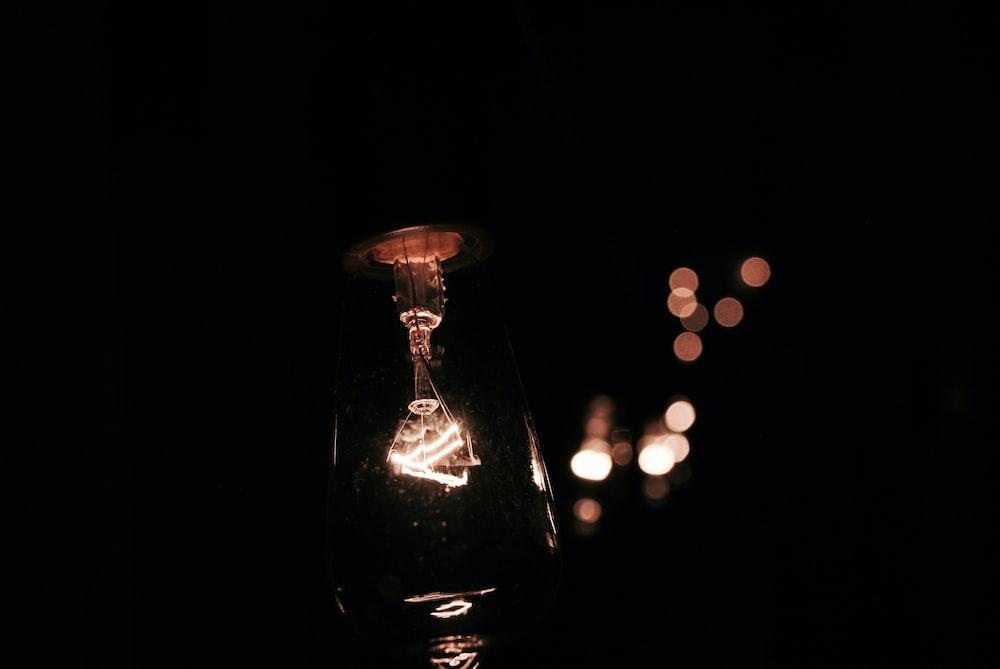 lamp on bokeh photography
