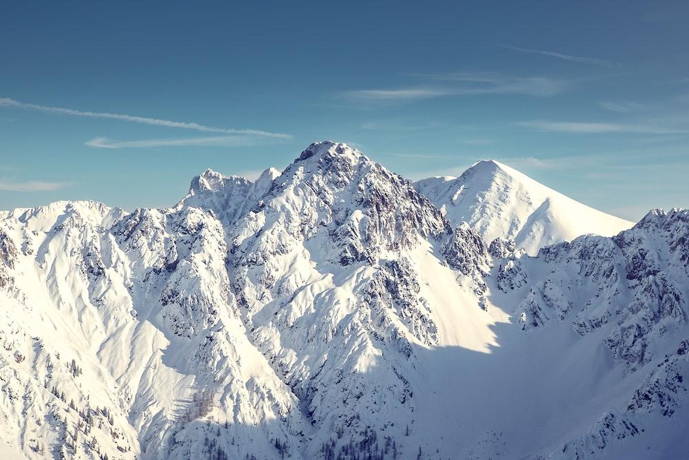 landscape photo of snowy mountain