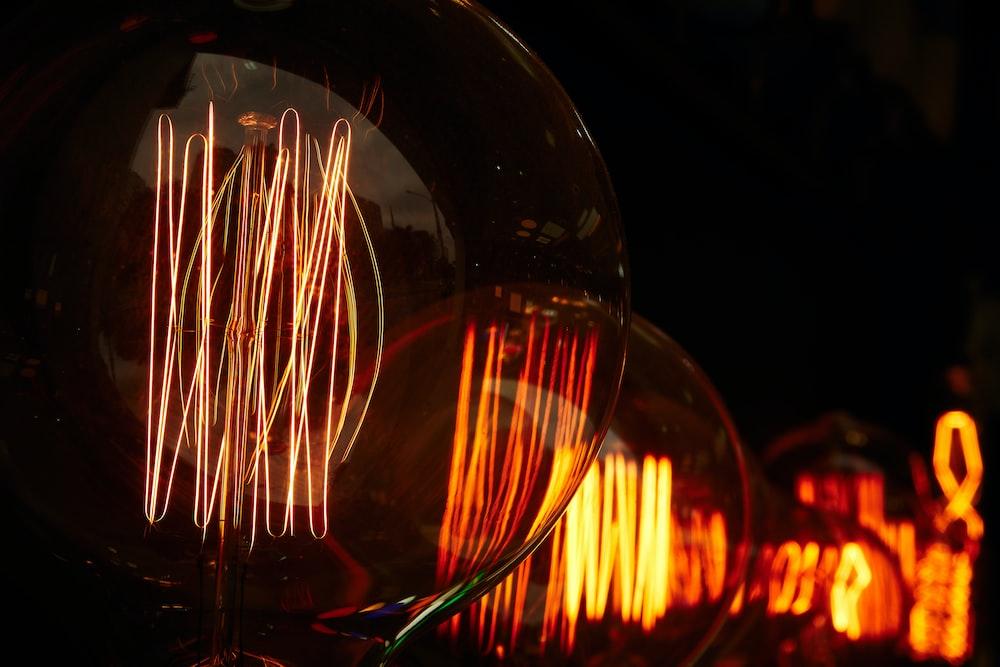 time lapse photo of light bulb