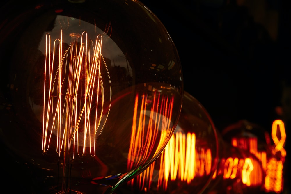 time lapse photo of light bulb