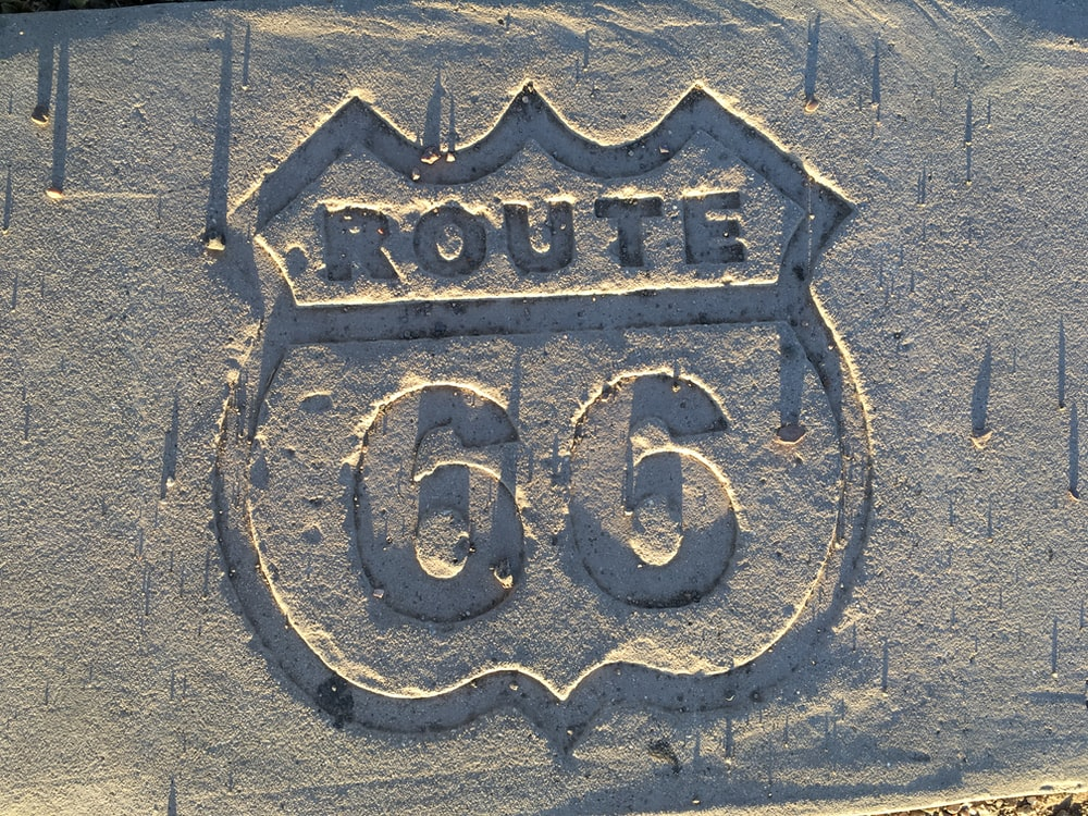 Route 66 on wall