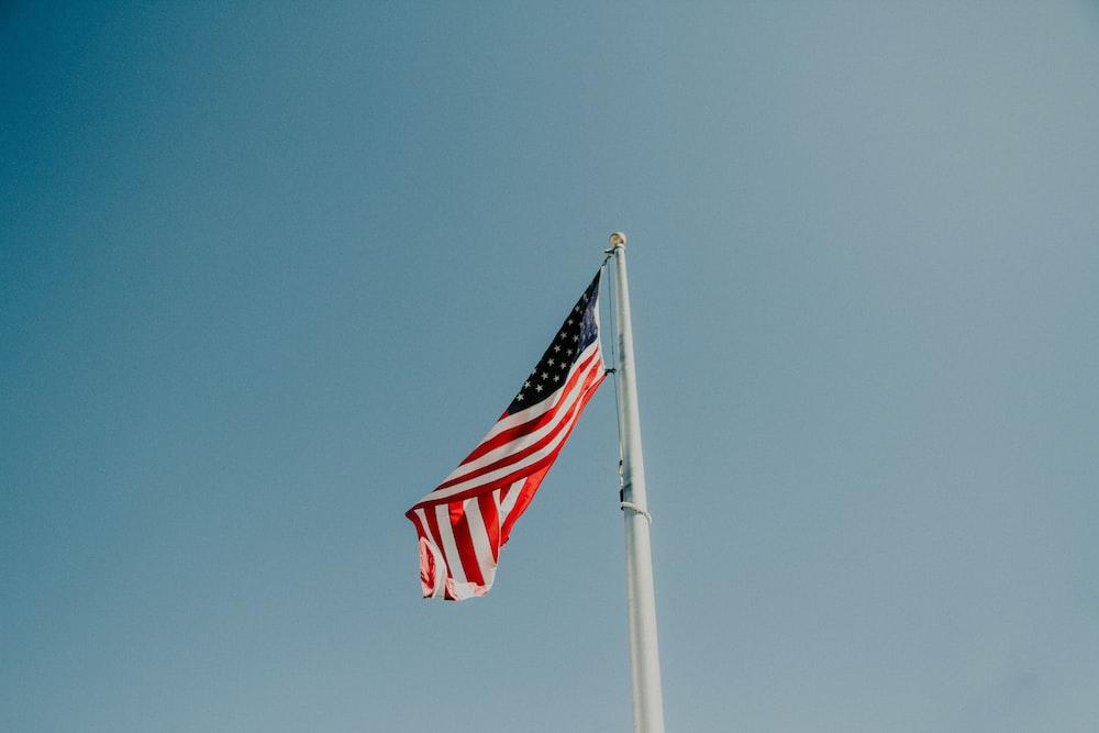U.S. flag pole during daytime