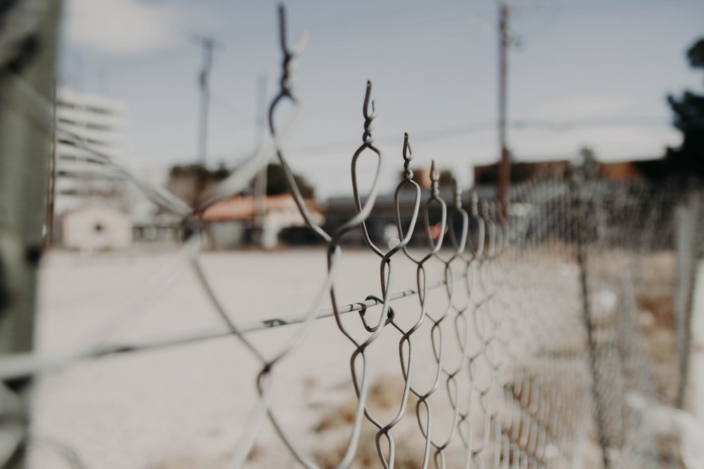 gray chain link fence