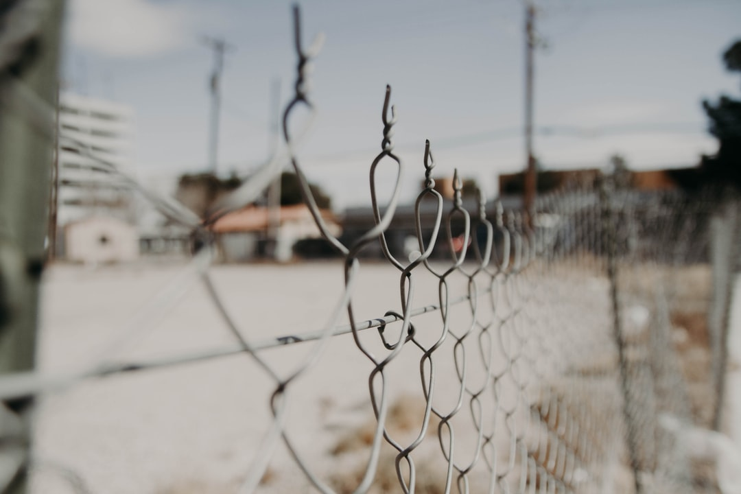 Through the chain-linked fence