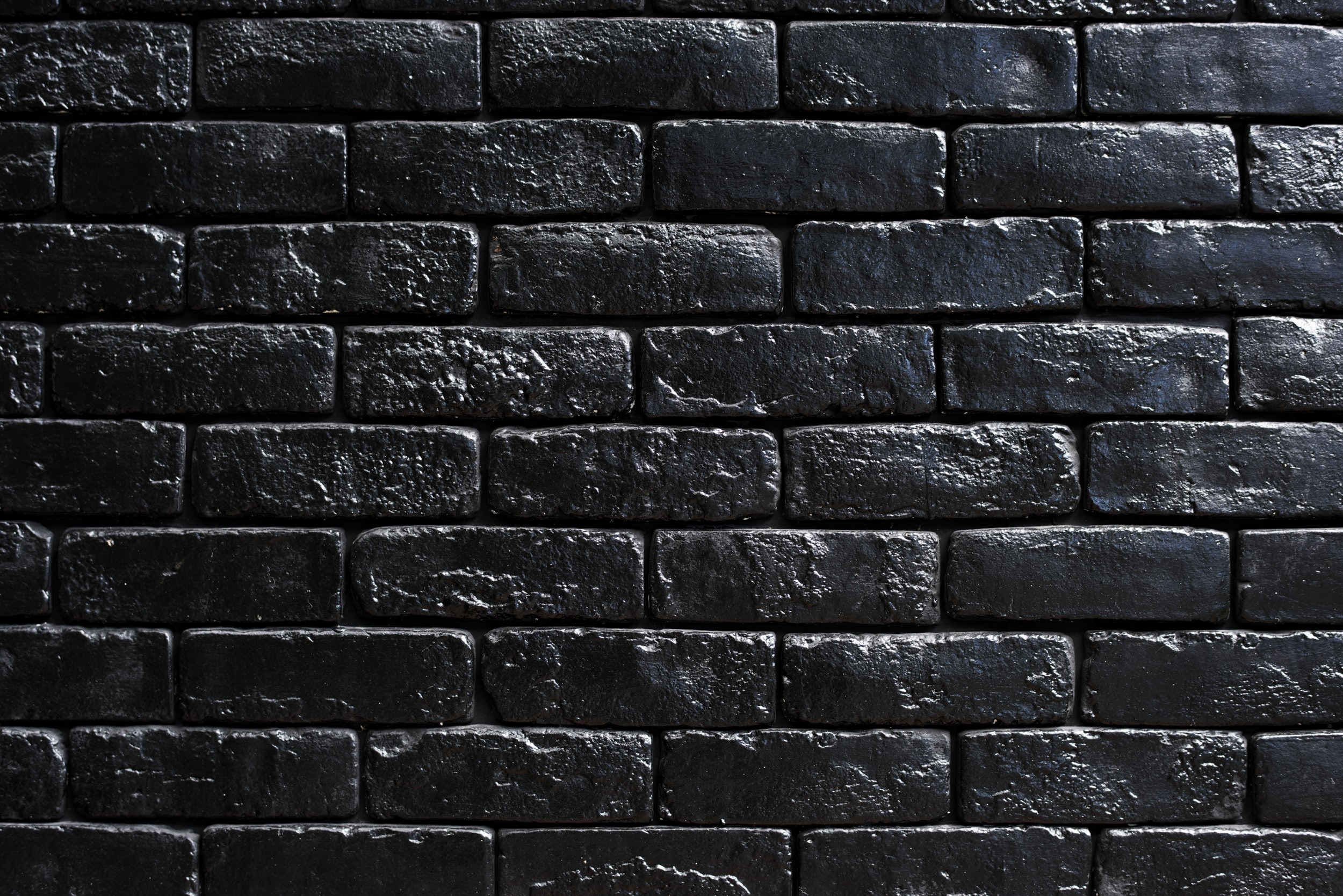 black concrete wall brick