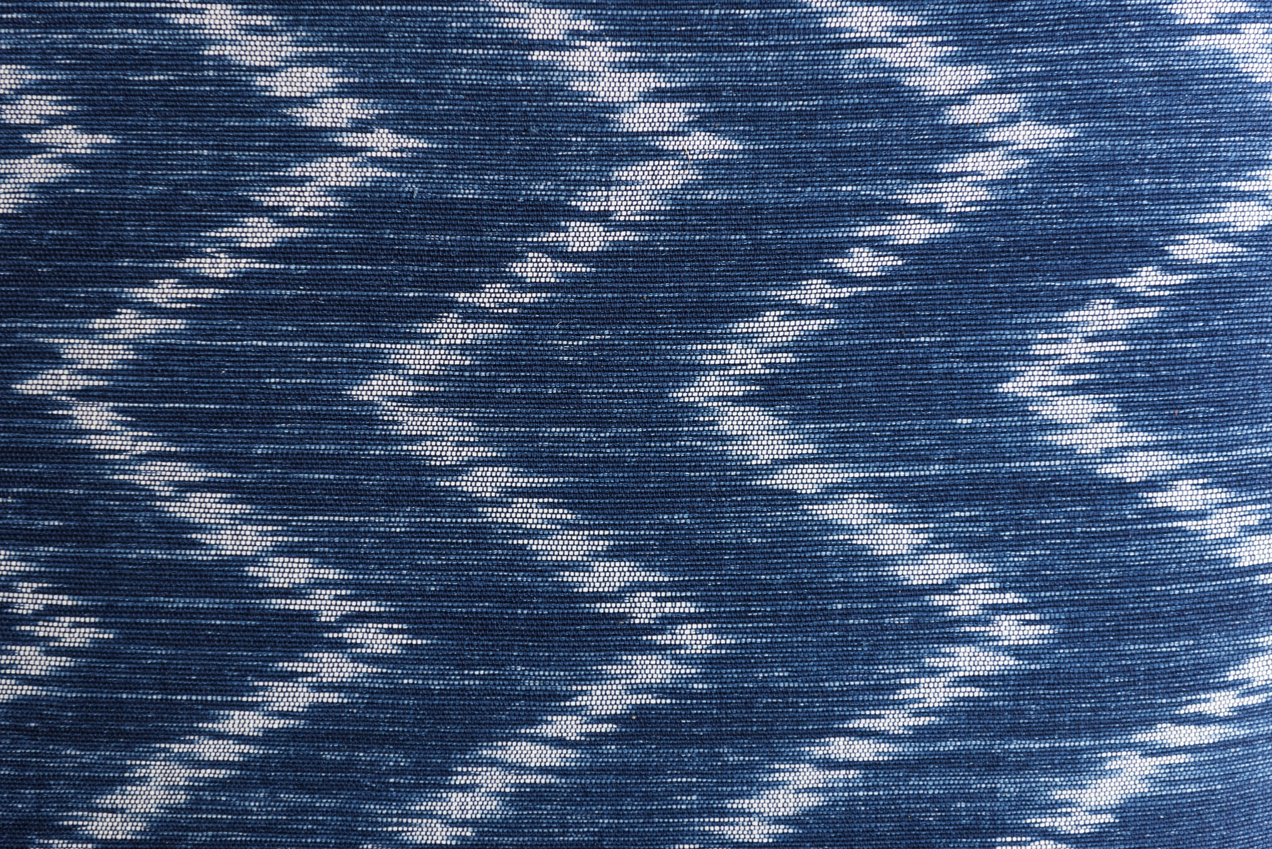 blue and white chevron print textile
