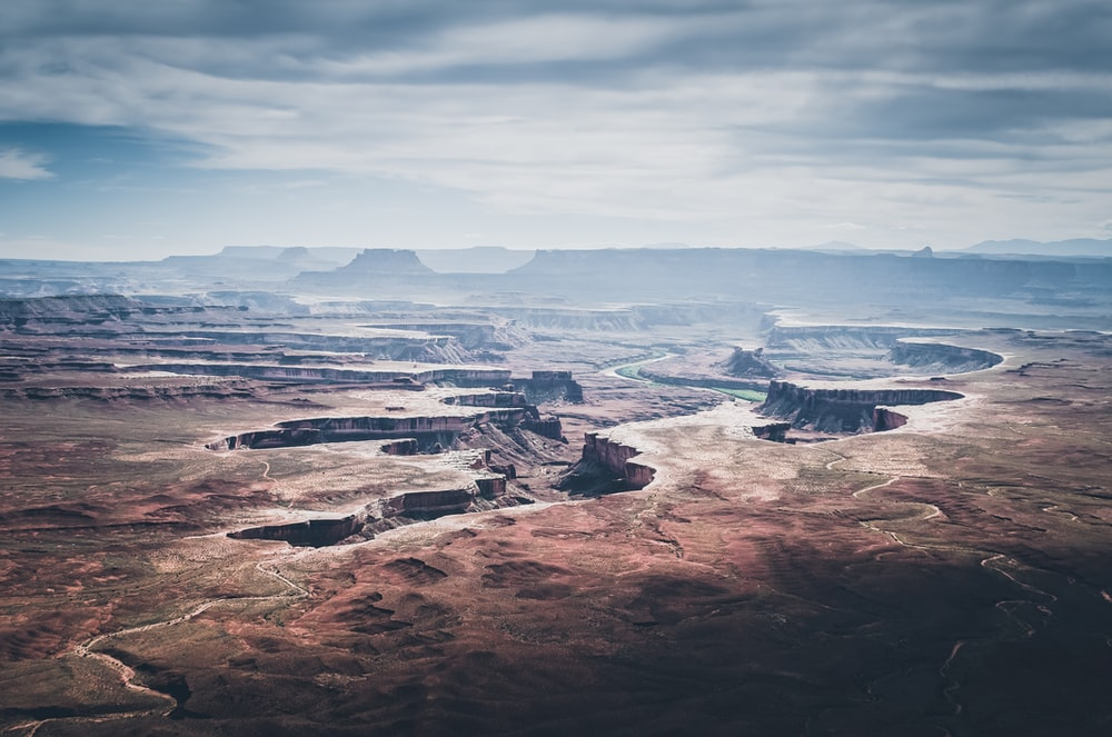 landscape photography of rock formation