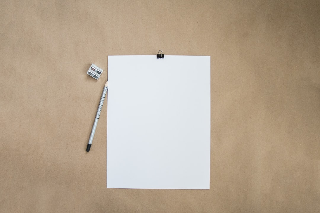 Blank Paper and Pencil by Kelly Sikkema