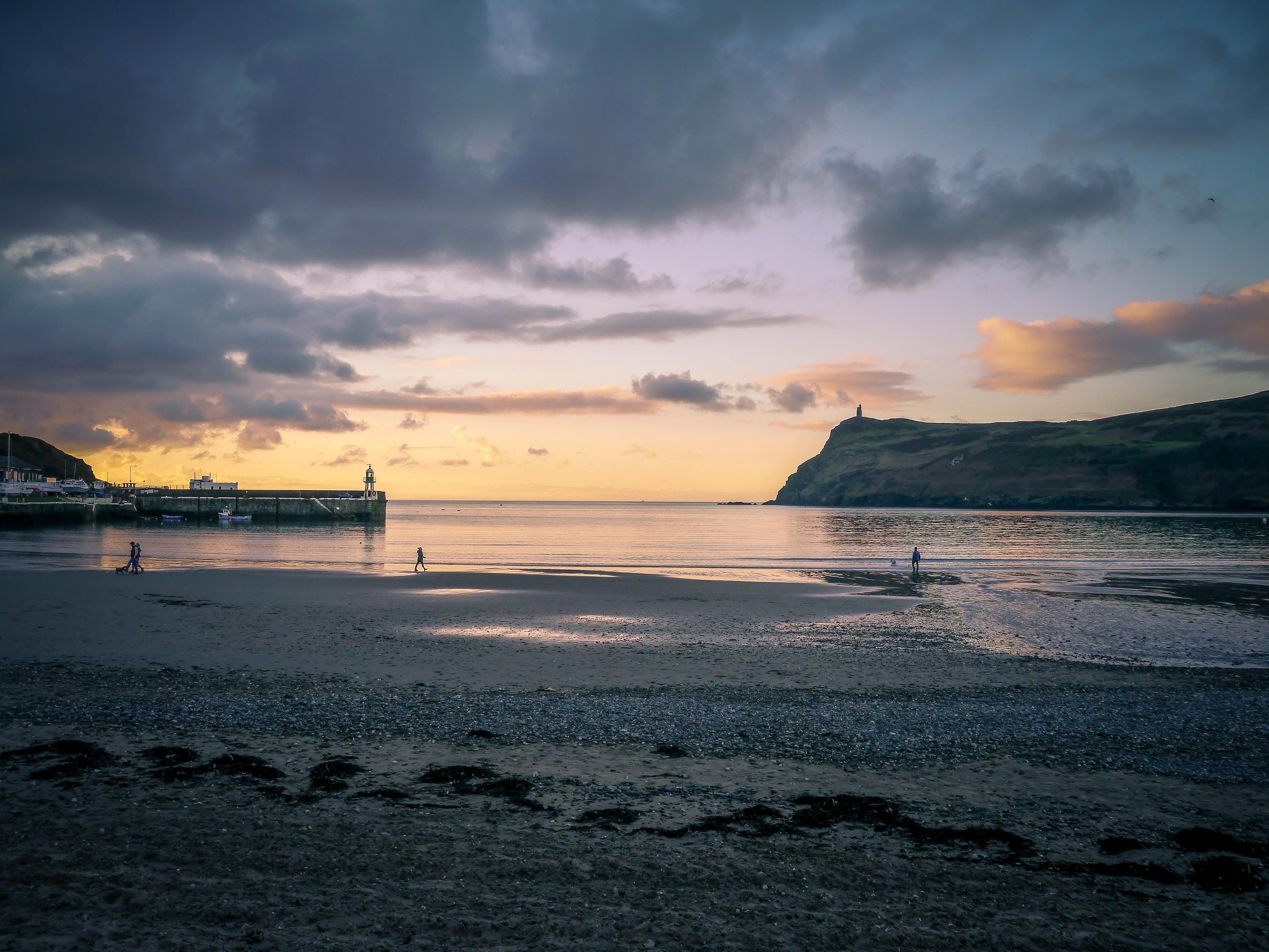 islet rock during golden hour