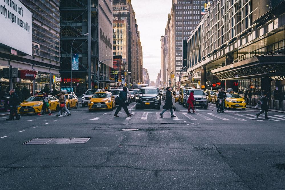 group of people walking on pedestrian