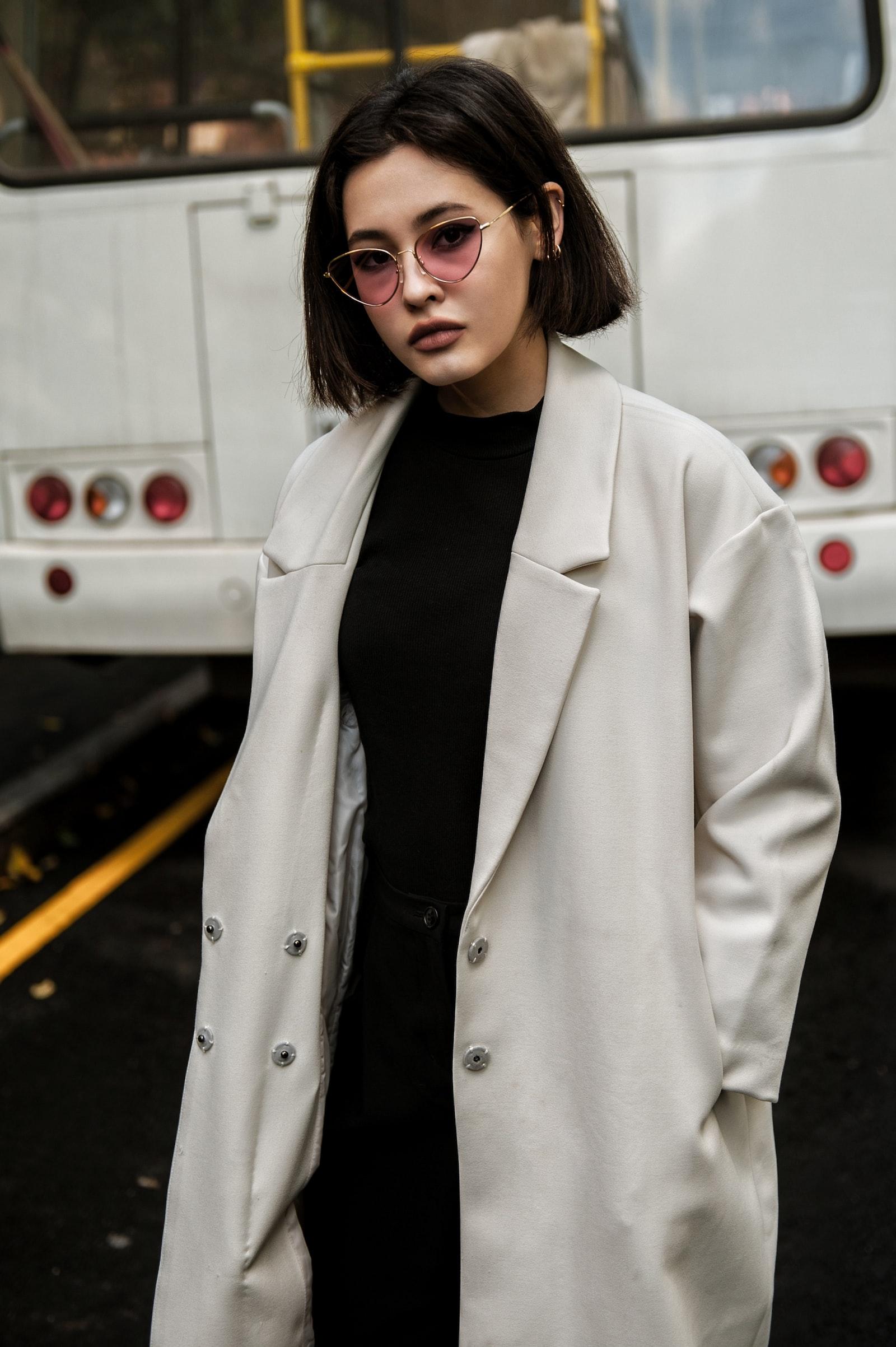 "Nikon D700 sample photo. ""Woman in white coat"" photography"
