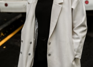 woman in white coat