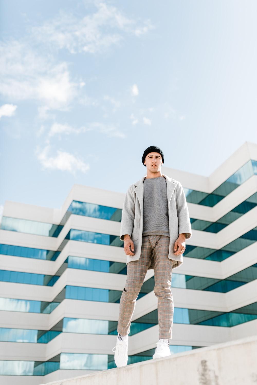 man standing on edge