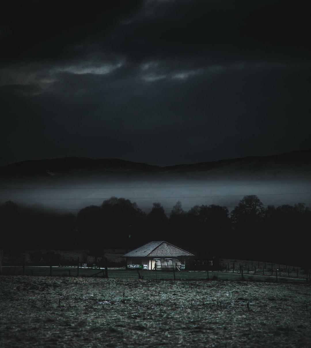 Alone in the dark.