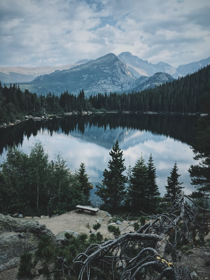 lake in mountains in Colorado