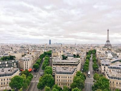 Paris aerial photography Eiffel Tower, Paris