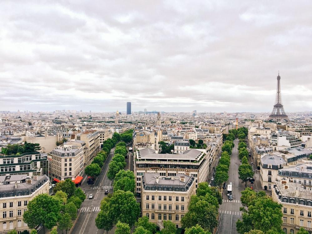 aerial photography Eiffel Tower, Paris