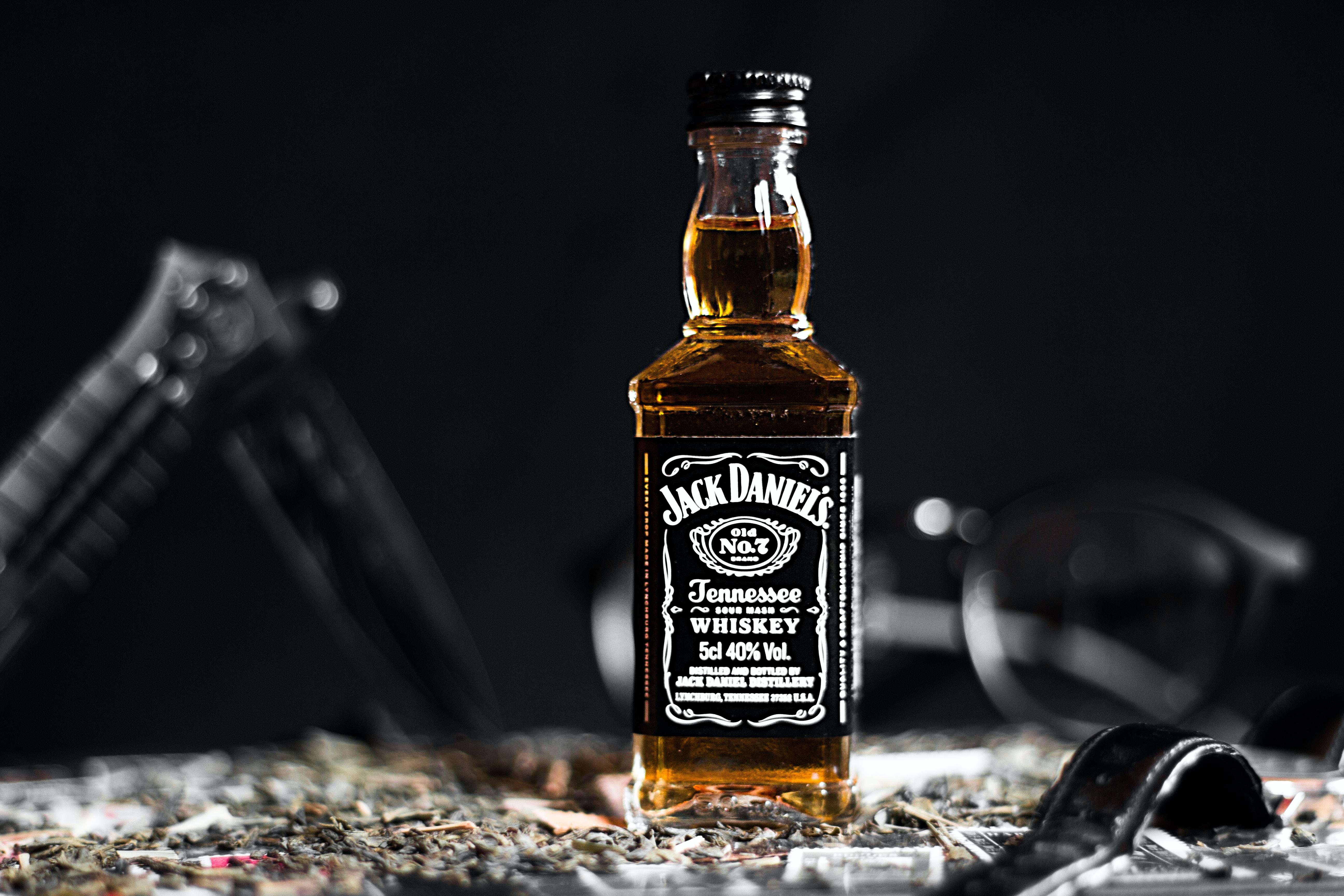Jack Daniels Tennessee Whiskey bottle