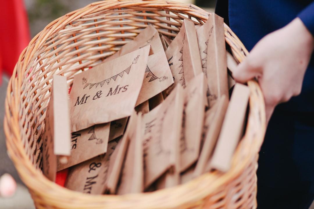 Wedding Confetti in bags Mr & Mrs