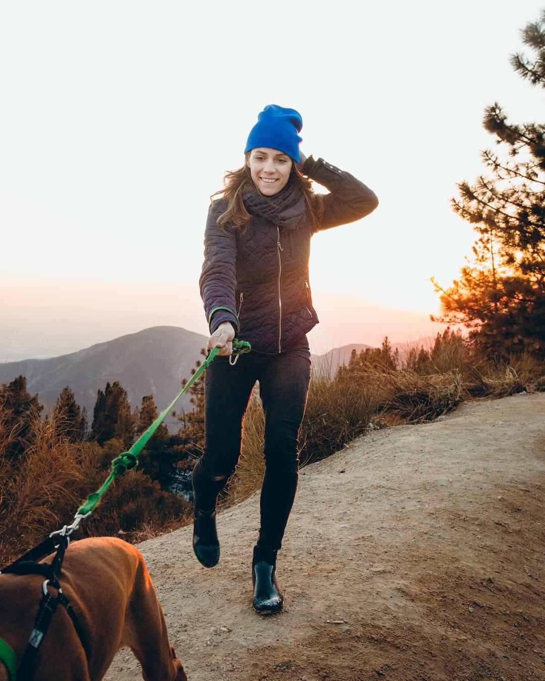 Walking Her Doggie