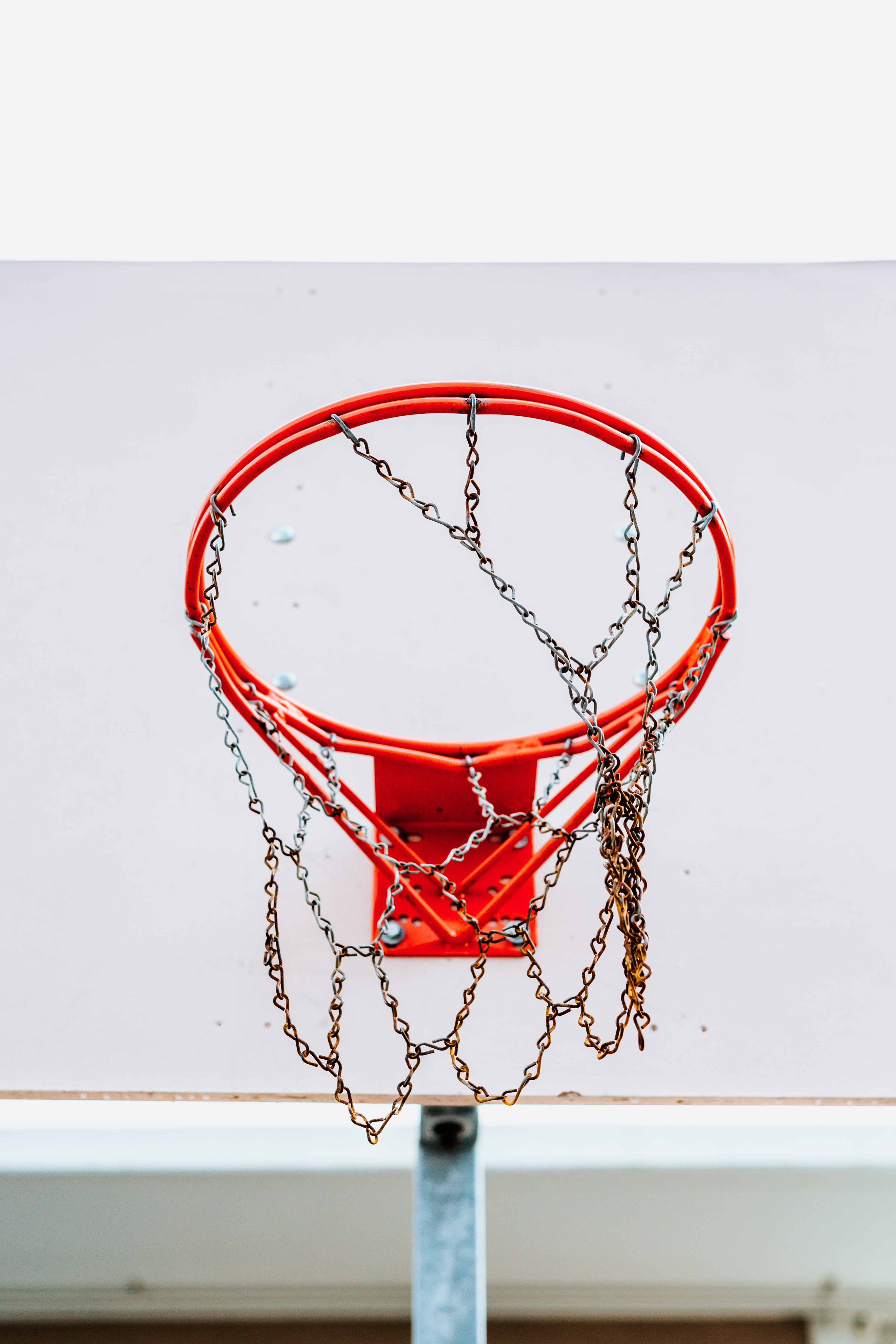 red and white basketball hoop