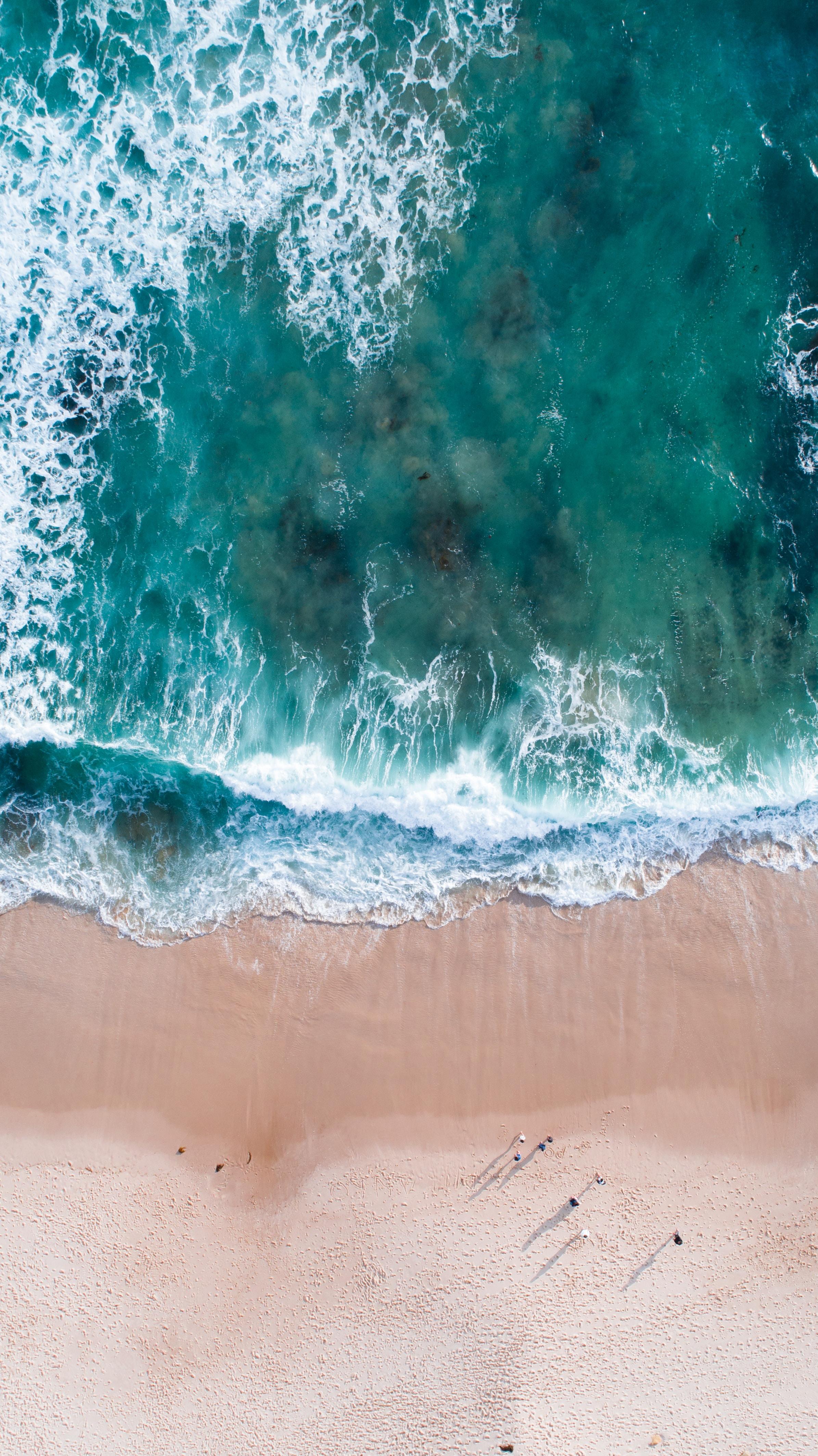 bird's-eye view photography of seashore