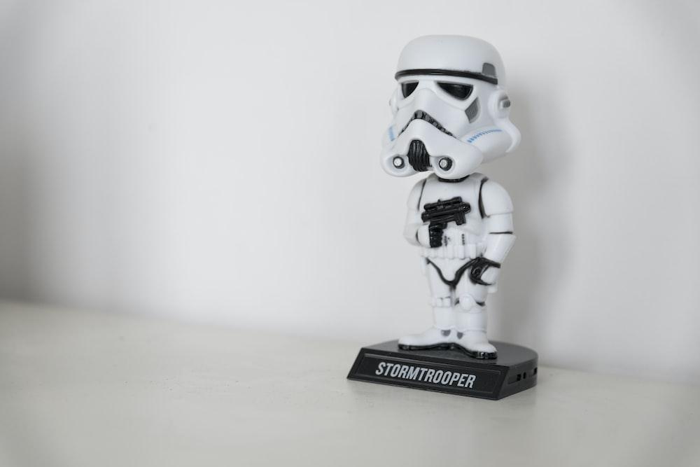 Clone Trooper figure on white board