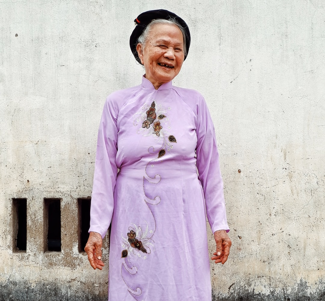 Old age does not make her lose laughter