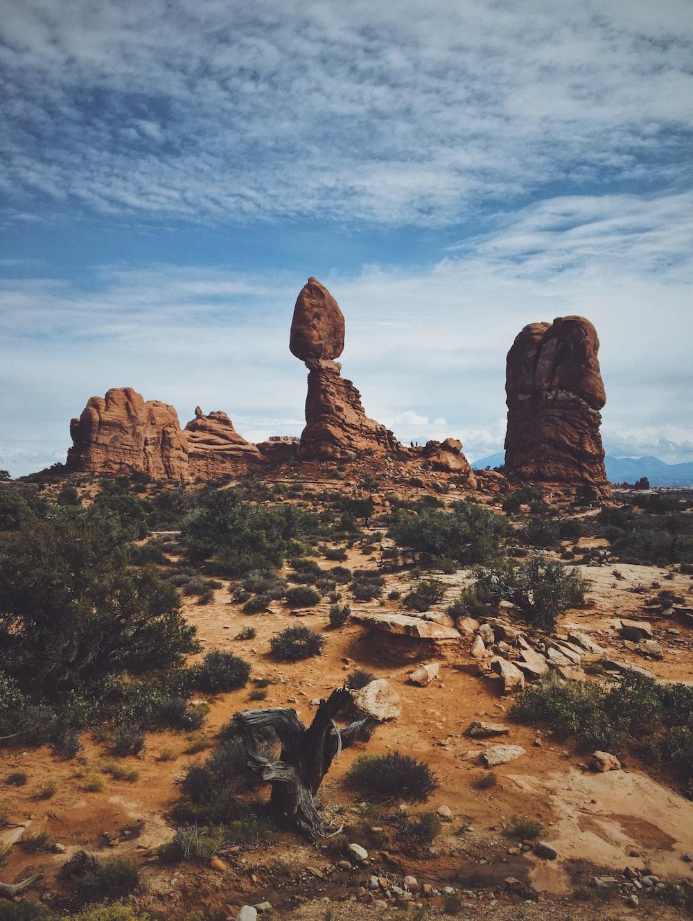 landscape photograph of rock formation