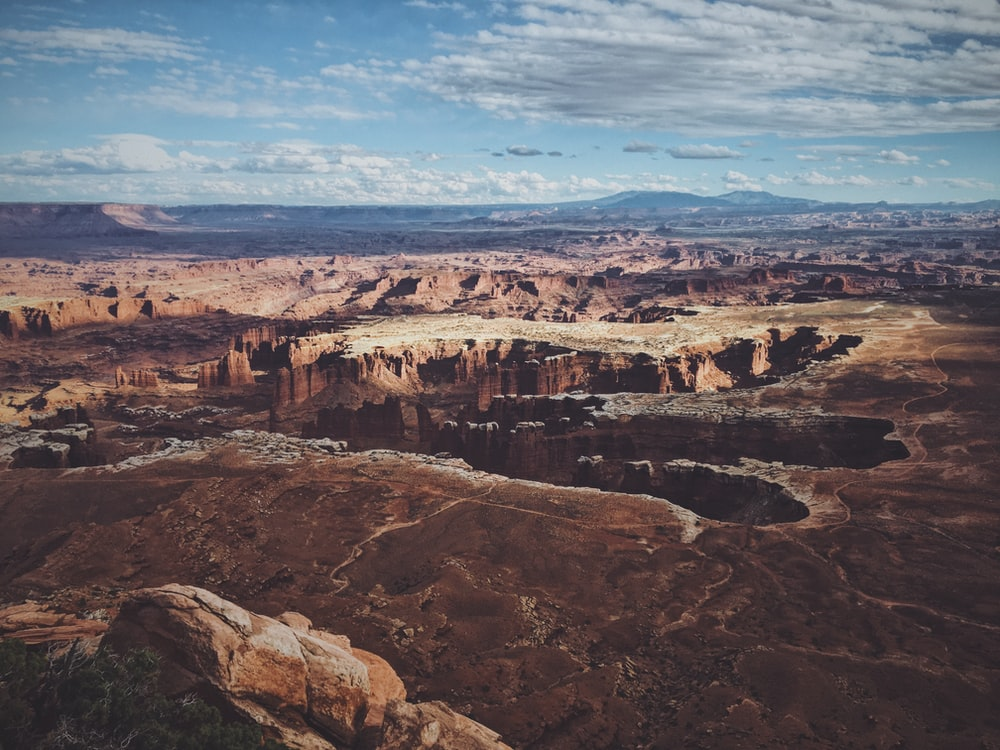 aerial photography of Grand Canyon