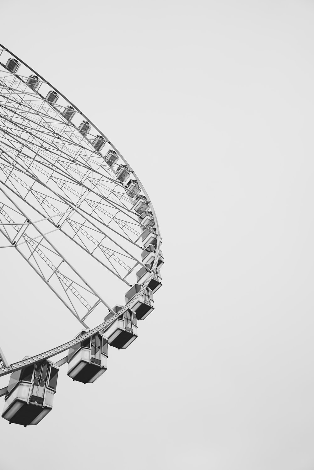 low-angle view of gray ferriswheel