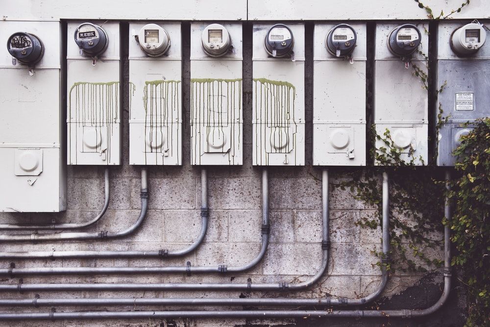 gray electric meters