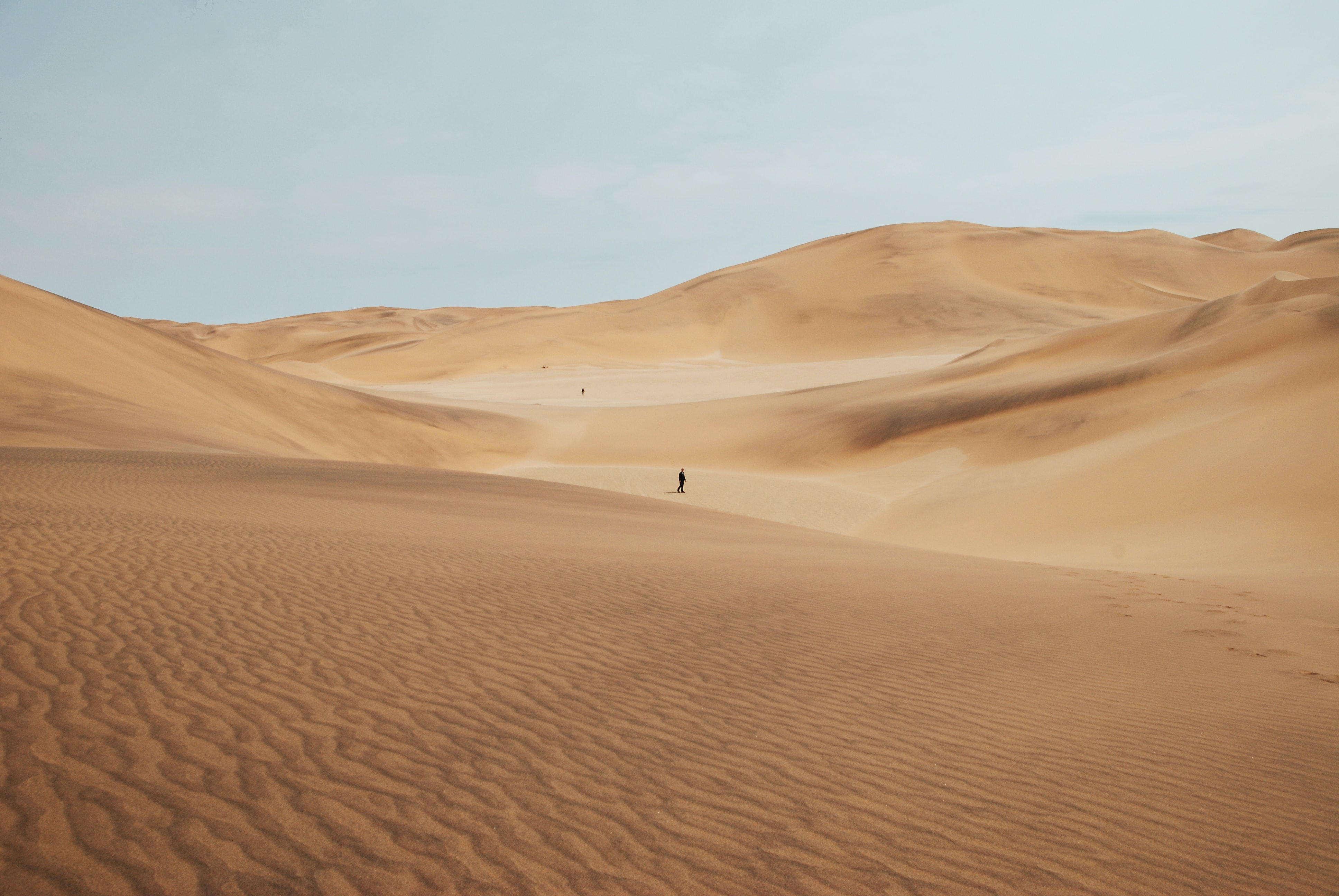 person on desert