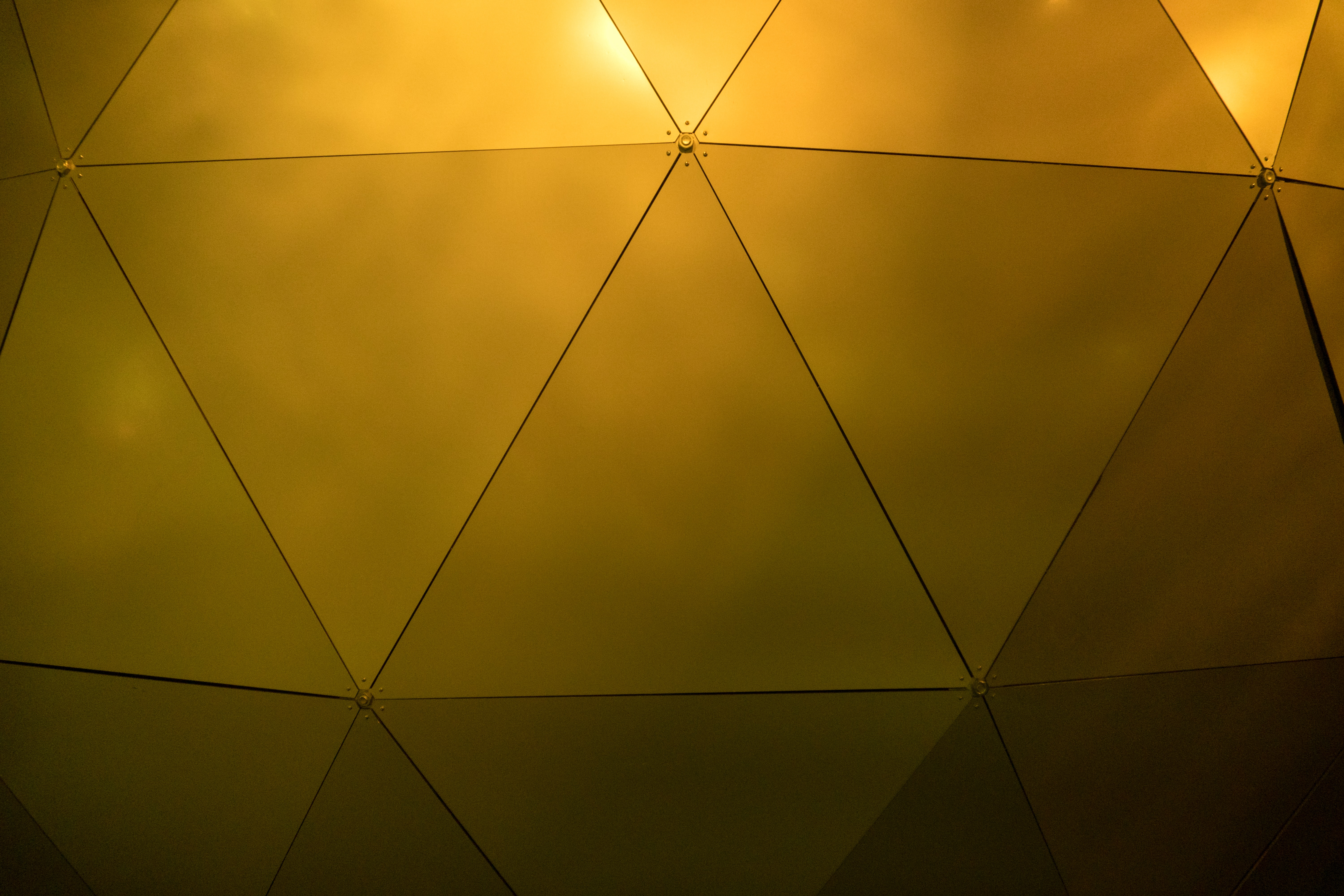 gold geodesic wall