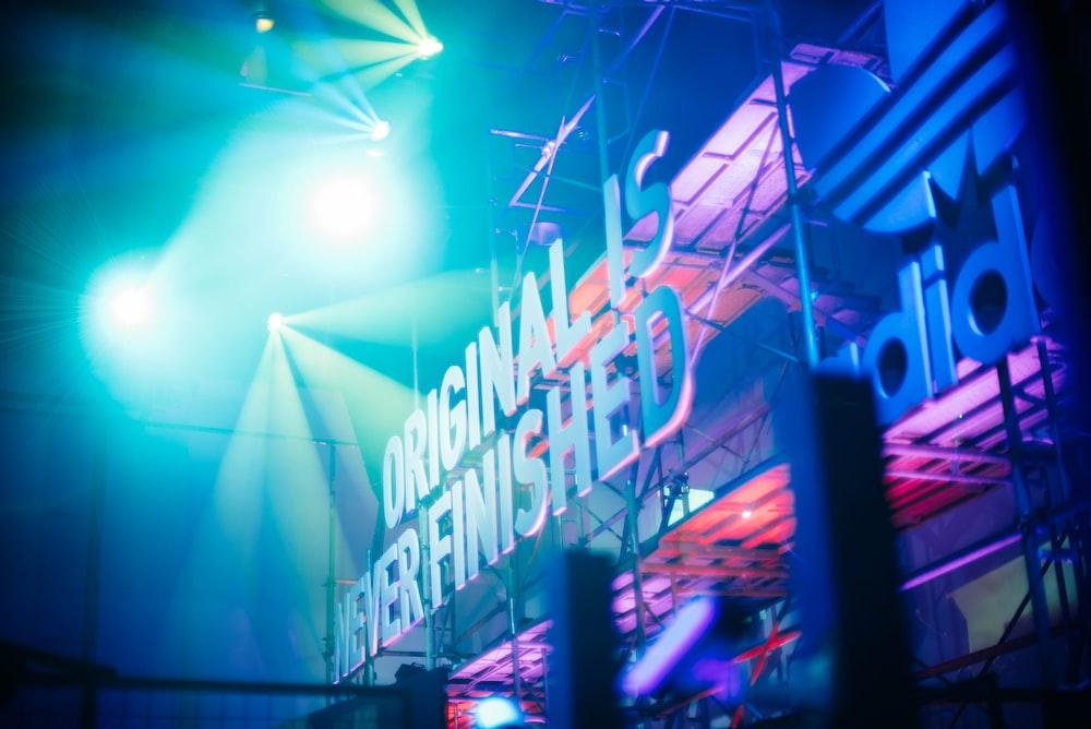 Originals Never Finished stage