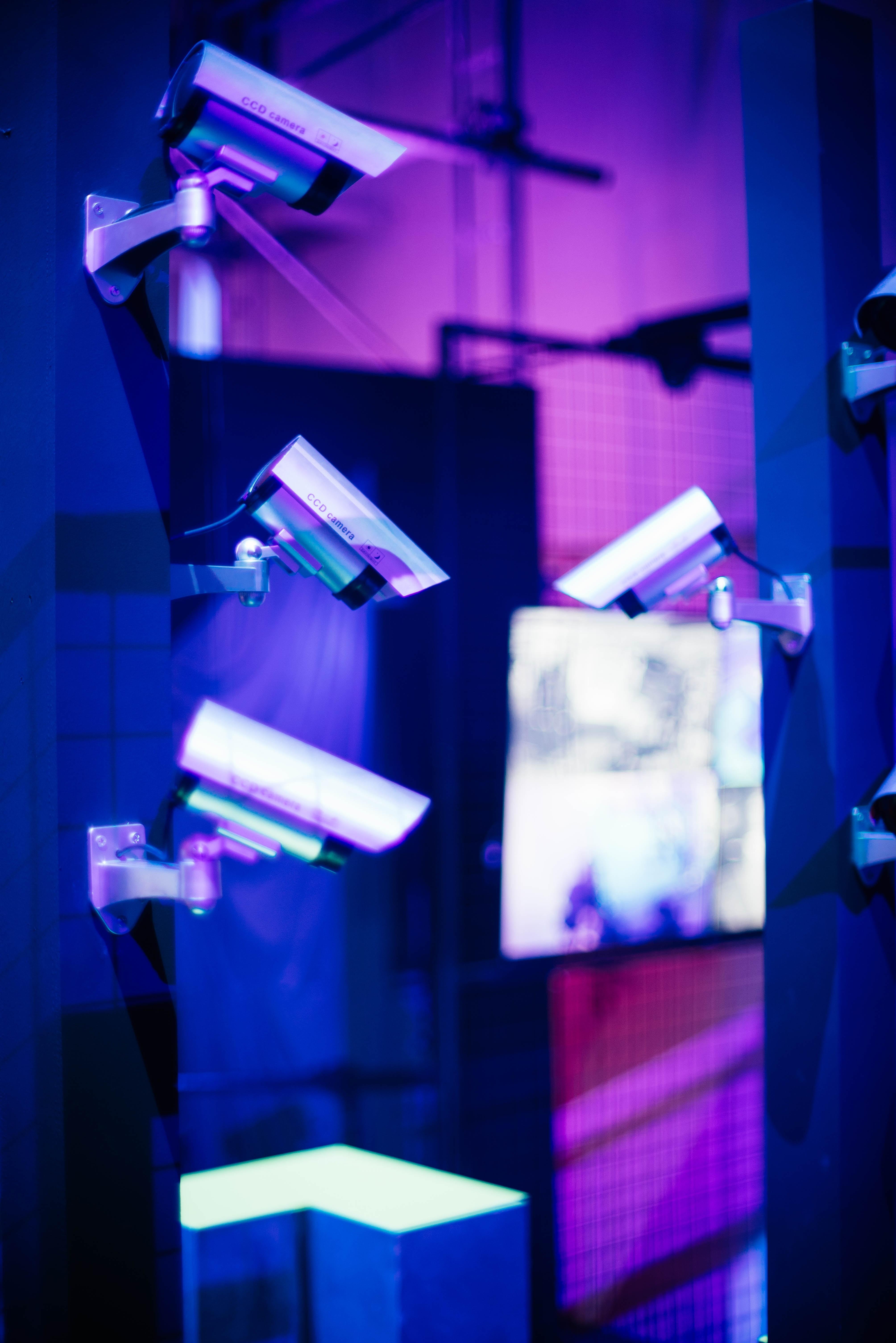 six bullet surveillance cameras