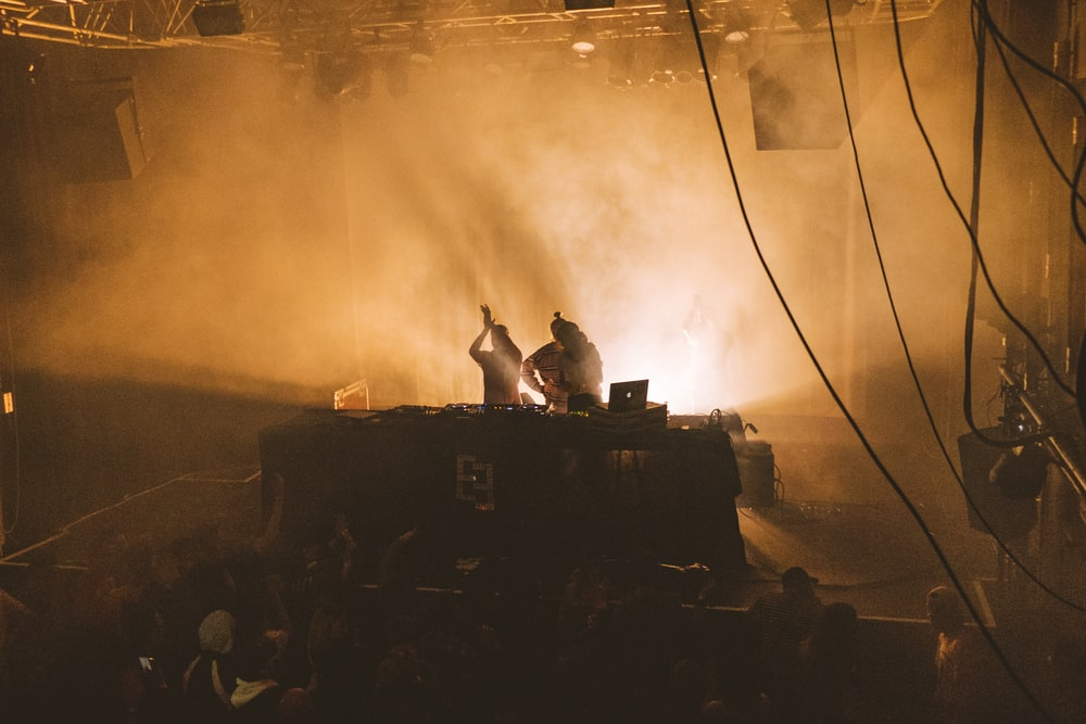 two DJ in stage