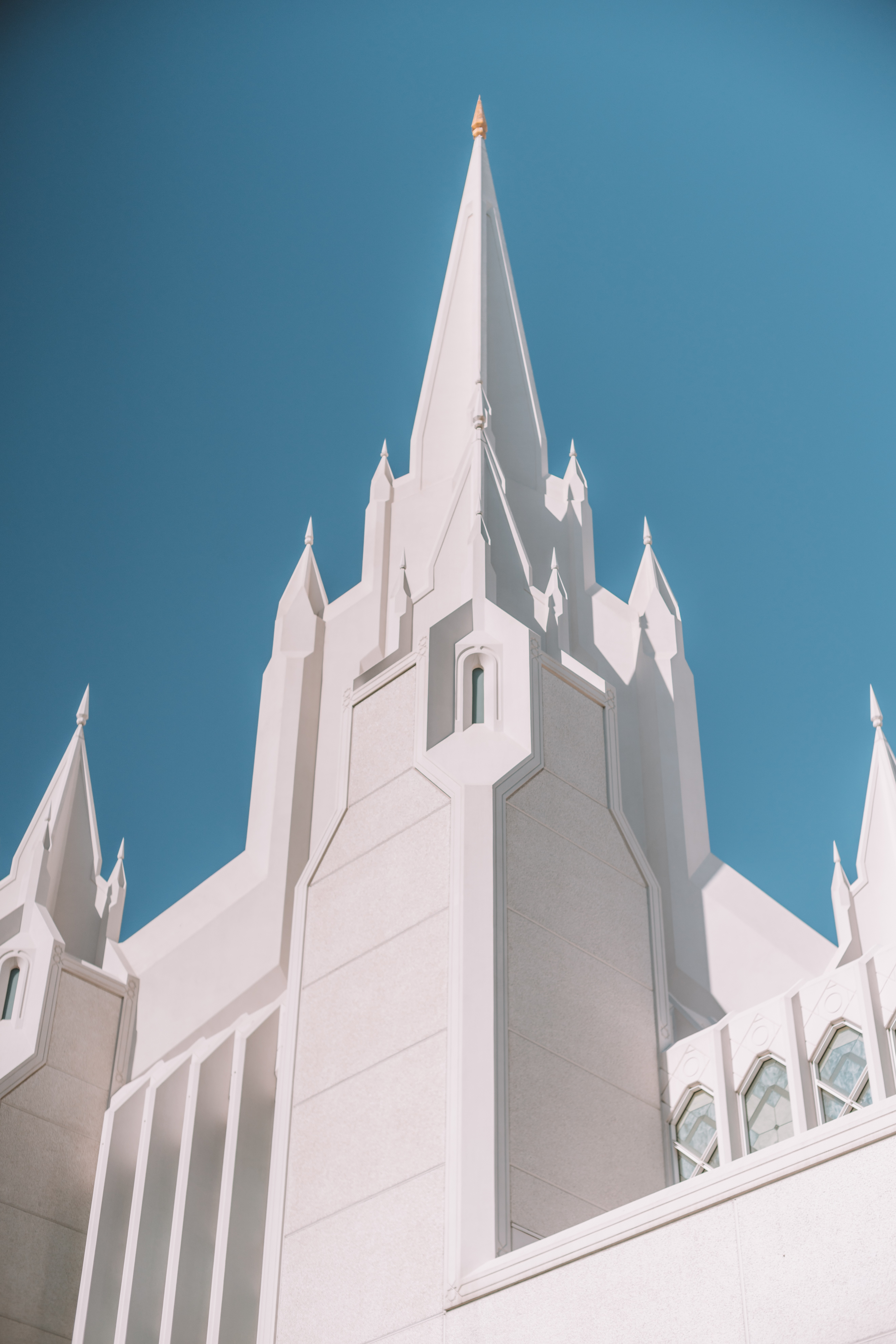 low angle photo of white cathedral
