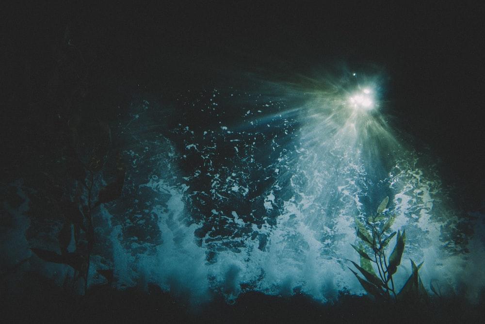 photo of water splash with light fixture