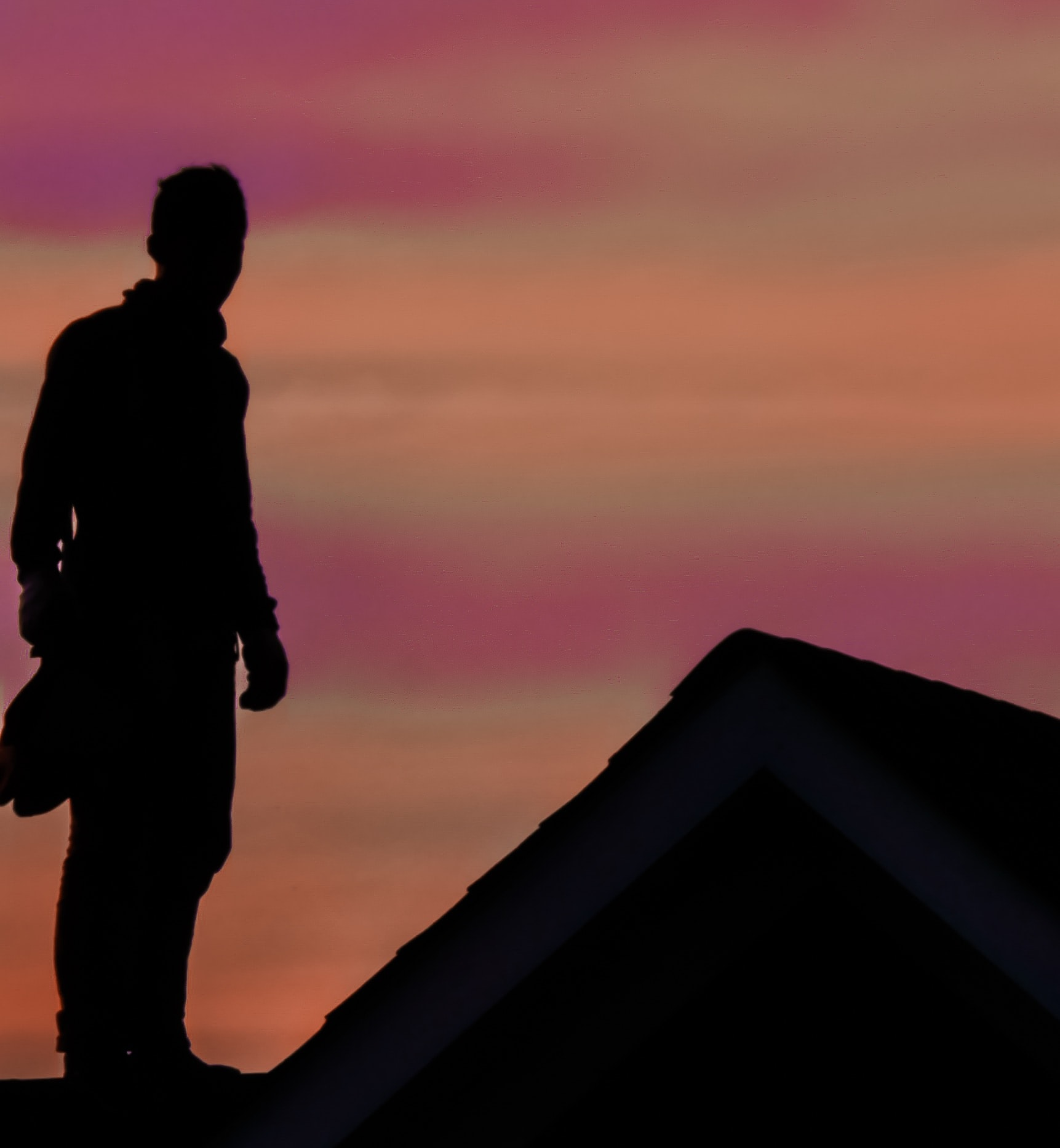 silhouette of man standing