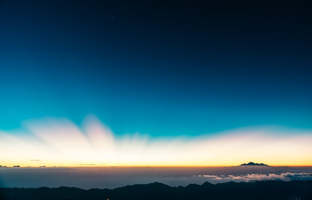 This is a frame from a sunrise timelapse I did in Mt Batur, Bali.