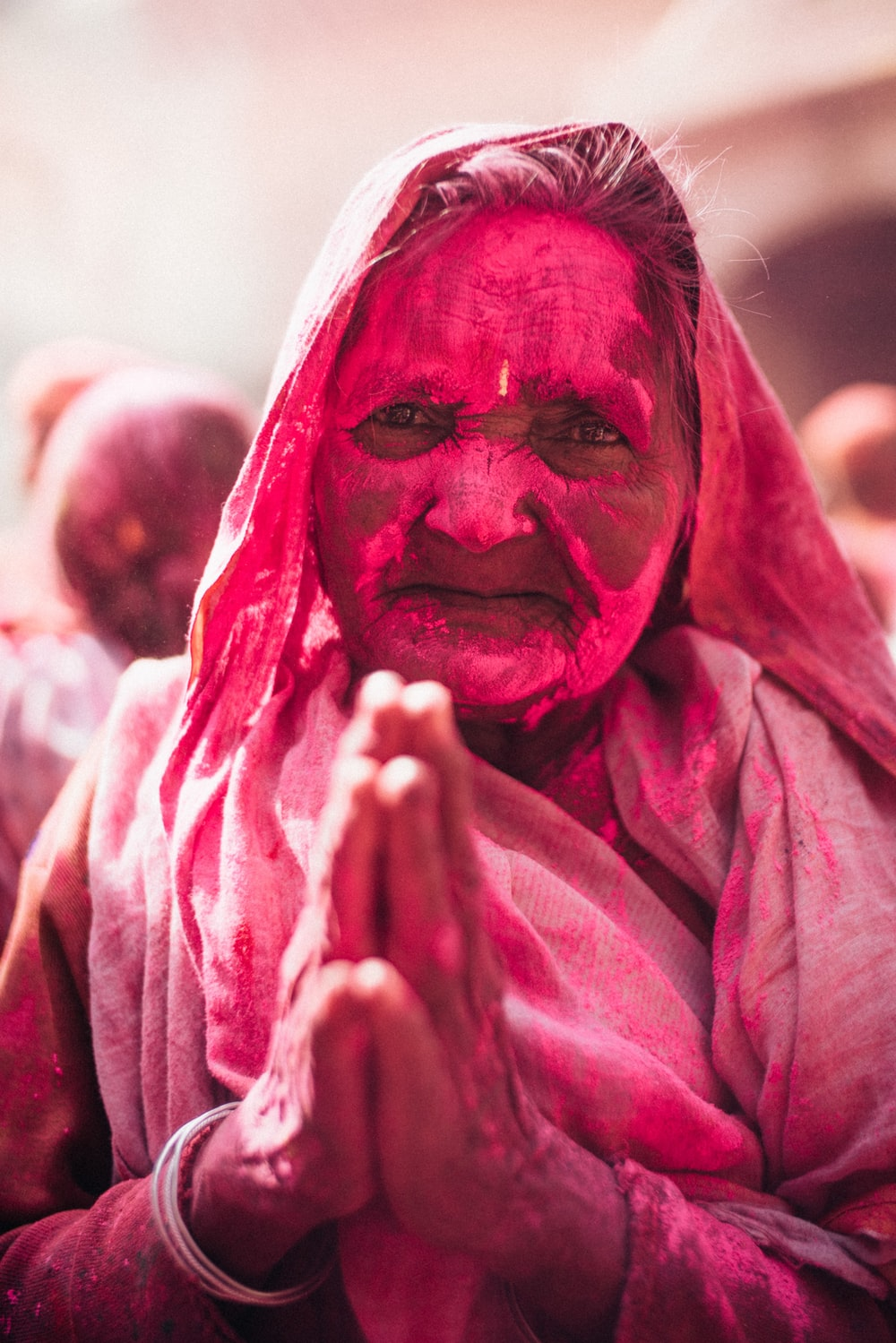 woman celebrating Holi