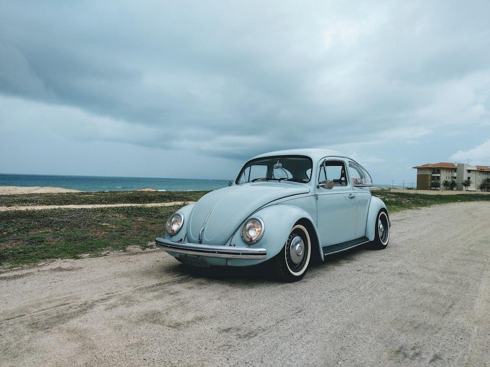 gray Volkswagen Beetle