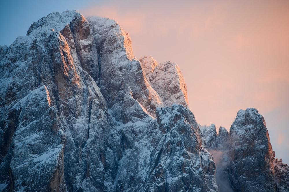 photo of gray mountain peak